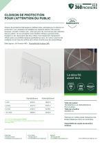 CLOISON DE PROTECTION POUR L'ATTENTION DU PUBLIC - 1