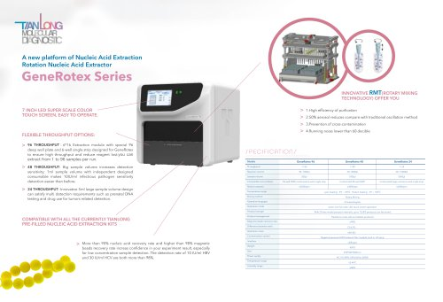 Tianlong's Nucleic Acid Extractor-Gene Rotex Series