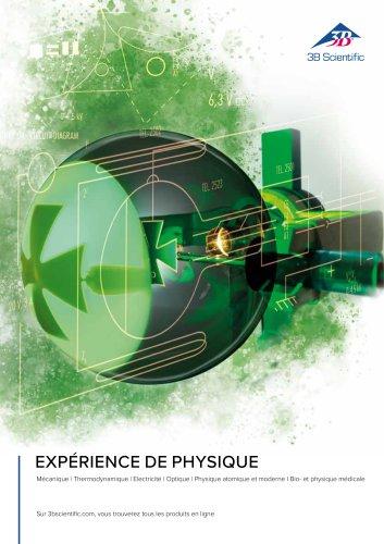Catalogue d'expériences de physique + physique biologique et médicale