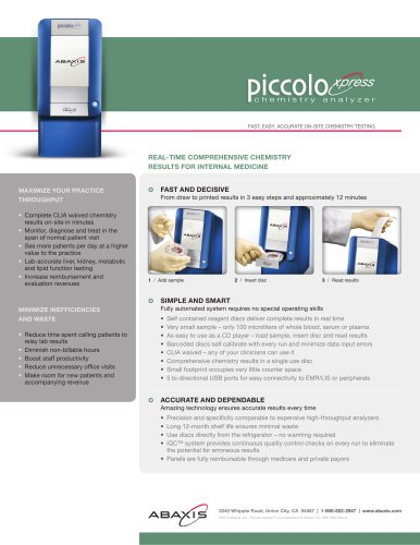 Piccolo Xpress Internal Medicine flyer