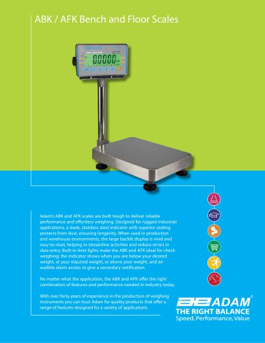 ABK / AFK Bench and Floor Scales
