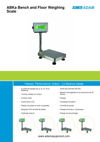 ABKa Bench and Floor Weighing Scale