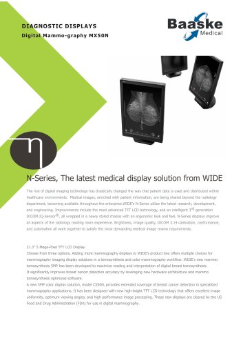 Wide Diagnostic Display MX50N 5MP