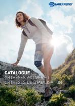 CATALOGUE ORTHÈSES ACTIVES ET ORTHÈSES DE STABILISATION