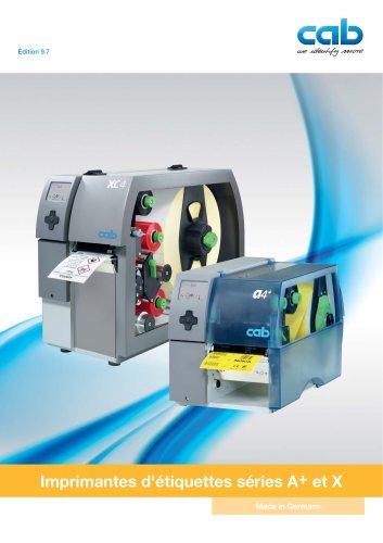 Imprimantes d'étiquettes séries A+ et X