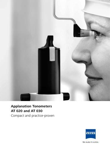 Applanation Tonometers AT 020 and AT 030