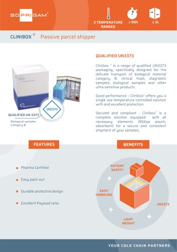 Clinibox UN3373 parcel shipper