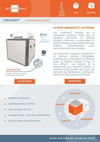 Container réfrigéré actif