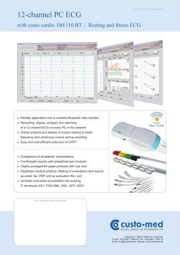 custo cardio 100 12-channel PC ECG BT