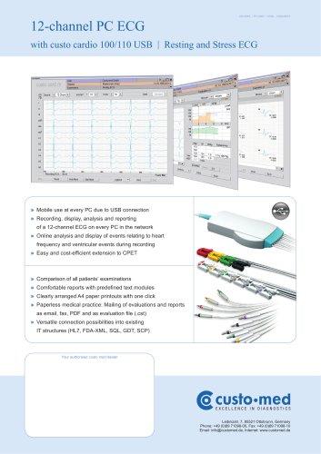 custo cardio 100 12-channel PC ECG USB