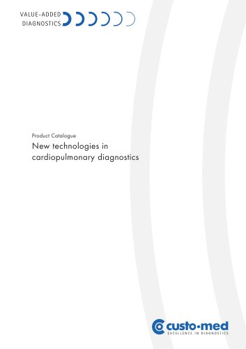 Product Catalogue New technologies in cardiopulmonary diagnostics
