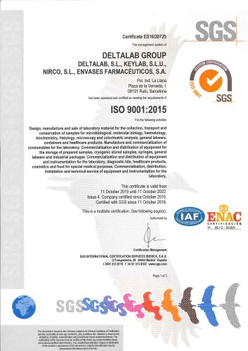 Deltalab, ISO 9001