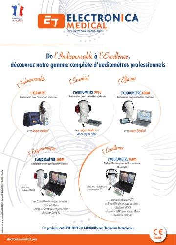 Audiomètres de dépistage
