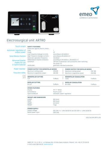 Electrosurgical unit ARTro