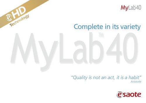 MyLab™40 eHD Technology - Brochure
