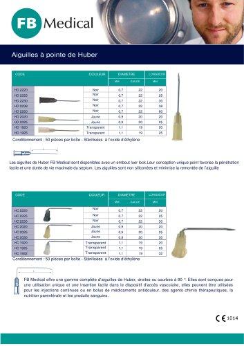 AIGUILLES DE HUBER® - AIGUILLES SIMPLES