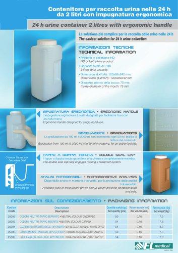 24 h urine container