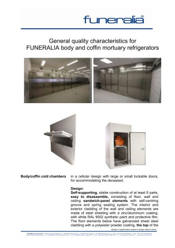 FUNERALIA body and coffin mortuary refrigerators