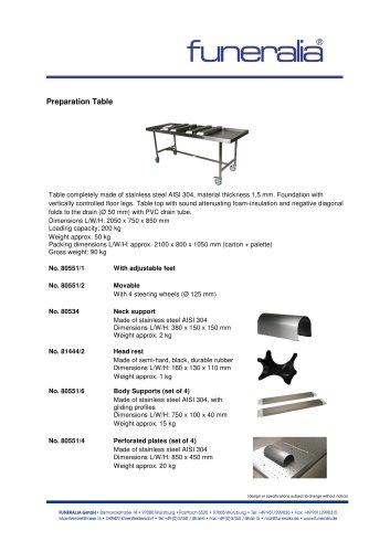 Preparation-Table