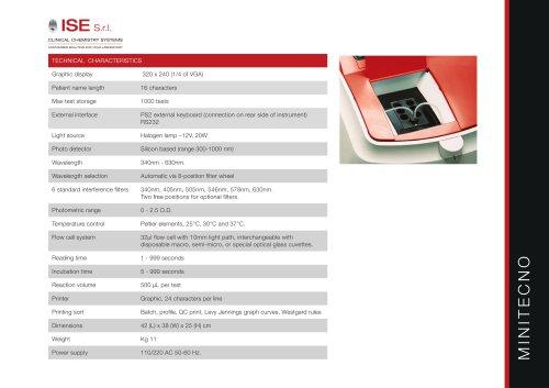 Minitecno - Technical specifications