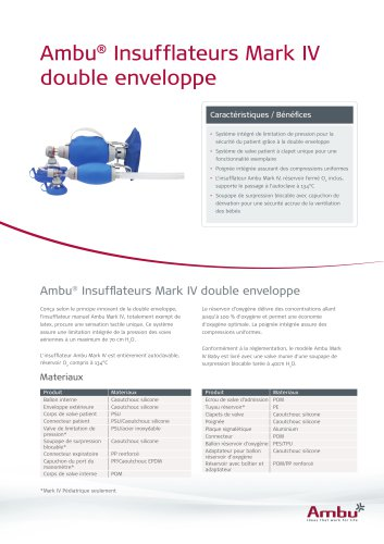 Ambu® Insufflateurs Mark IV double enveloppe