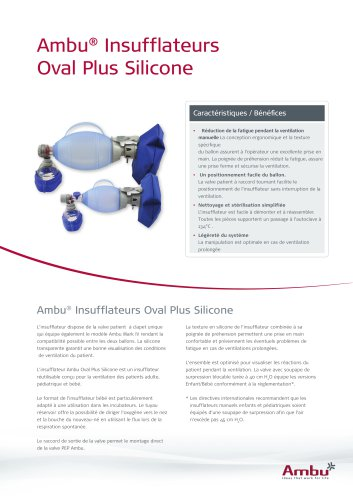 Ambu® Insufflateurs Oval Plus Silicone