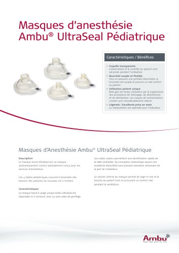 Masques d'anesthésie Ambu® UltraSeal Pédiatrique