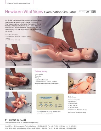 M58 Newborn Vital Sings Examination Simulator