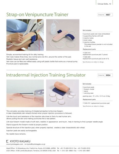 M94 Intradermal Injection Training Simulator