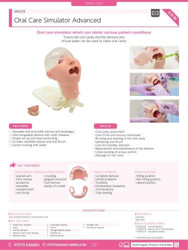 MW29 Oral Care Simulator Advanced