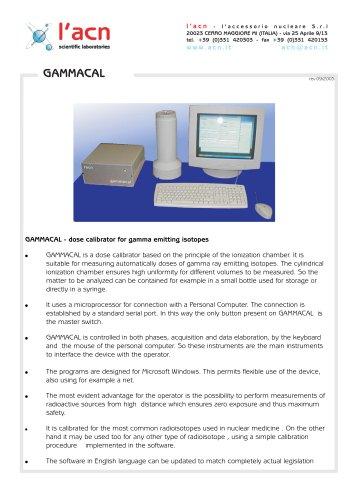 Dose Calibrator Gammacal
