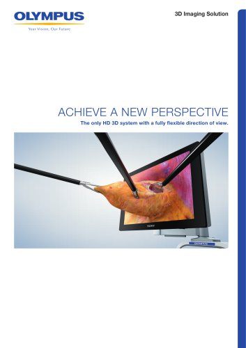 The only HD 3D system with a fully flexible direction of view.