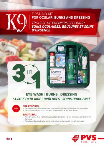K9 FIRST AID KIT: FOR OCULAR, BURNS AND DRESSING
