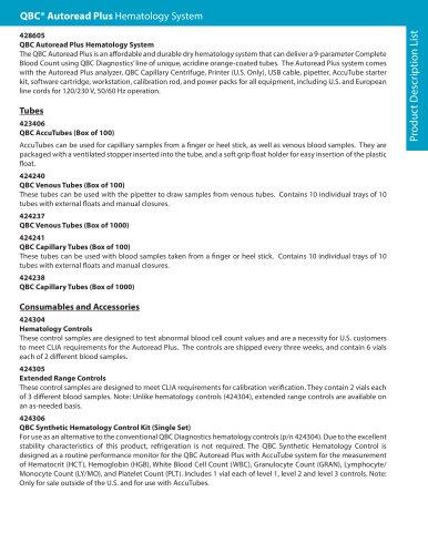 Product Description List: QBC Autoread Plus