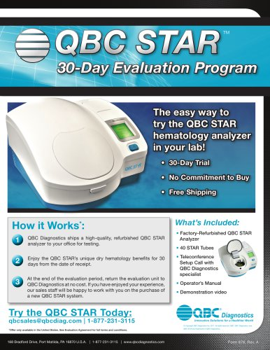 STAR 30-Day Evaluation Datasheet