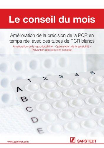 Amélioration de la précision de la PCR en temps réel avec des tubes de PCR blancs