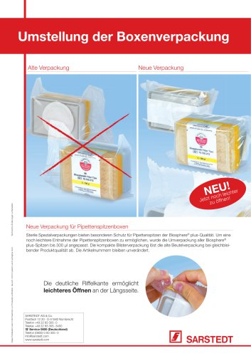 Conversion of box packaging