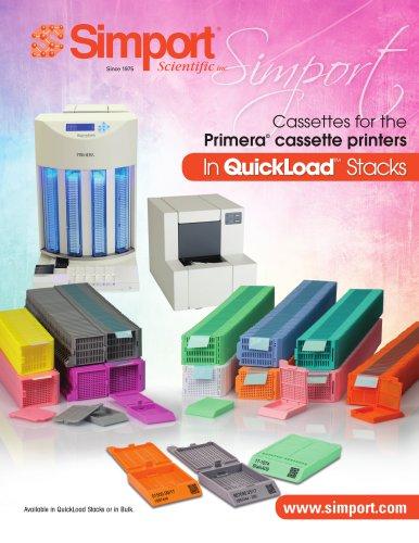 Cassettes in QuickLoad™ Stacks for Primera® Printers