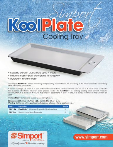 Module de refroidissement de paraffine M479-24 KOOLPLATE™
