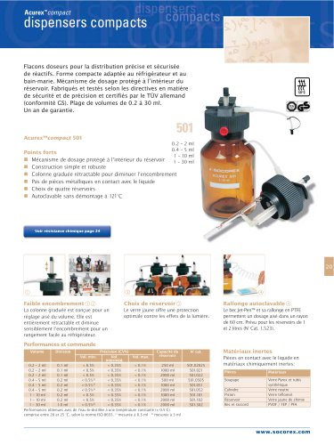 Acurex™501 dispensers compacts