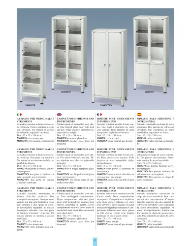 CABINET FOR MEDICINES AND INSTRUMENTS