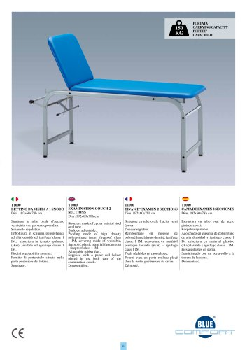 T1000 EXAMINATION COUCH 2 SECTIONS