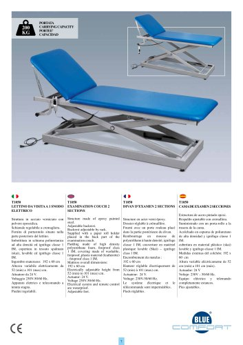 T1050 EXAMINATION COUCH 2 SECTIONS
