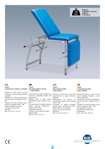 T1070 EXAMINATION COUCH – 3 SECTIONS