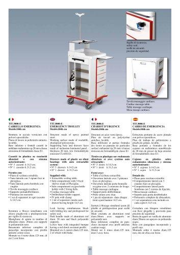 TIT.3000-E EMERGENCY  TROLLEY 56x64x104h cm