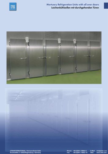 Mortuary Refrigeration Units with all over doors