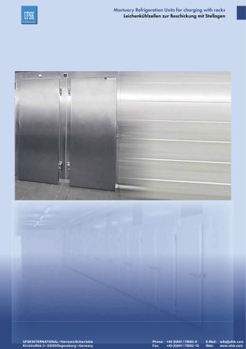 Mortuary Refrigeration Units with Rack Loading