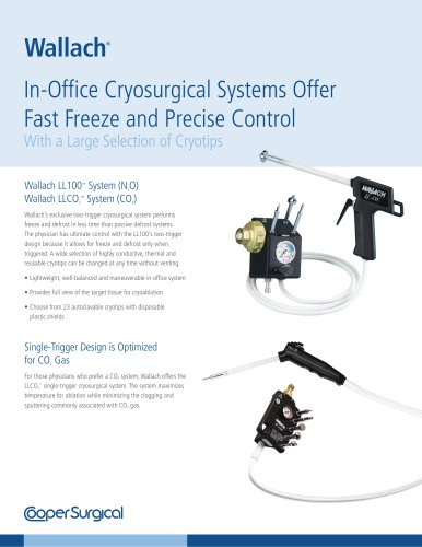 Wallach Cryosurgical Systems Sell Sheet