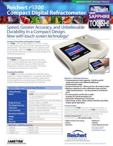 r2i300 Compact Digital Refractometer