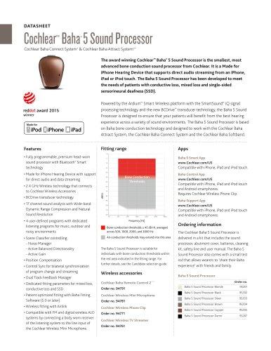 Cochlea Baha® 5 Sound Processor